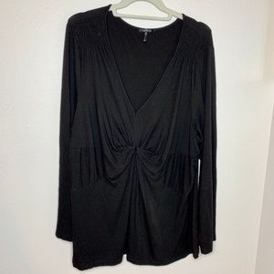 Daisy Fuentes Woman Black Long Sleeve Blouse